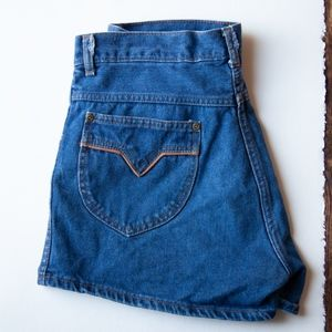Vintage 70's Weeds Denim Shorts